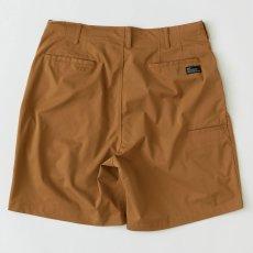 画像3: Polyhalf Wide Shorts ワイド ショーツ ベルトレス イージー SOLOTEX 2タック Camel Brown (3)