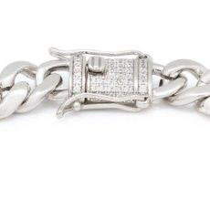 画像5: 10mm Miami Cuban Chain Bracelet ブレスレット ゴールド マイアミ キューバン ブレスレット Silver Gold シルバー ゴールド (5)