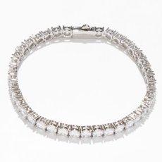 画像4: 4mm 14K Gold Single Row Tennis Bracelet ブレスレット Gold Silver ゴールド シルバー テニス チェーン (4)