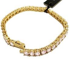 画像5: 4mm 14K Gold Single Row Tennis Bracelet ブレスレット Gold Silver ゴールド シルバー テニス チェーン (5)