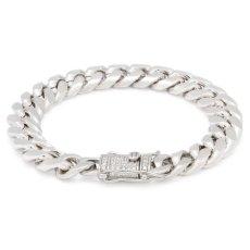 画像1: 10mm Miami Cuban Chain Bracelet ブレスレット ゴールド マイアミ キューバン ブレスレット Silver Gold シルバー ゴールド (1)