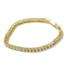 画像3: 4mm 14K Gold Single Row Tennis Bracelet ブレスレット Gold Silver ゴールド シルバー テニス チェーン (3)