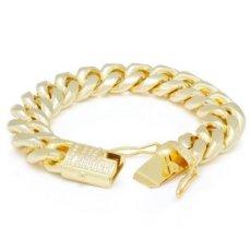 画像6: 10mm Miami Cuban Chain Bracelet ブレスレット ゴールド マイアミ キューバン ブレスレット Silver Gold シルバー ゴールド (6)