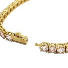 画像8: 4mm 14K Gold Single Row Tennis Bracelet ブレスレット Gold Silver ゴールド シルバー テニス チェーン (8)