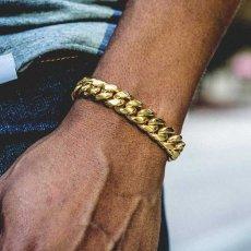 画像7: 10mm Miami Cuban Chain Bracelet ブレスレット ゴールド マイアミ キューバン ブレスレット Silver Gold シルバー ゴールド (7)