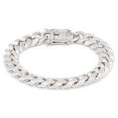 画像3: 10mm Miami Cuban Chain Bracelet ブレスレット ゴールド マイアミ キューバン ブレスレット Silver Gold シルバー ゴールド (3)