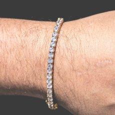 画像7: 4mm 14K Gold Single Row Tennis Bracelet ブレスレット Gold Silver ゴールド シルバー テニス チェーン (7)