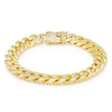 画像4: 10mm Miami Cuban Chain Bracelet ブレスレット ゴールド マイアミ キューバン ブレスレット Silver Gold シルバー ゴールド (4)