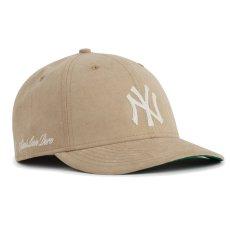 画像1: × Aime Leon dore LP 59Fifty Cap NewYork Yankees Brushed Nylon Beige エメ レオン ドレ ニューヨーク ヤンキース キャップ 帽子 Kith ベージュ (1)