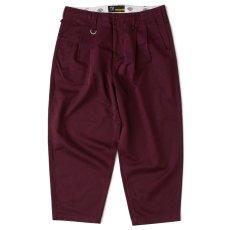 画像2: × Dickies Biggies Wide Chino Pants ディッキーズ ワイド チノ タイプ パンツ シルエット Wine Red (2)