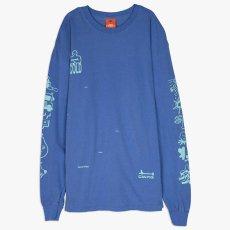 画像4: Frozen Goods Full Throttle L/S Tee 長袖 Tシャツ Blue (4)