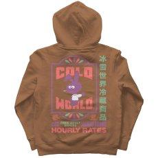 画像3: Frozen Goods Motel Bunny Sweat Hoodie モーテル バニー スウェット フーディー Saddle Brown (3)