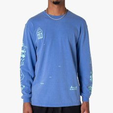 画像3: Frozen Goods Full Throttle L/S Tee 長袖 Tシャツ Blue (3)