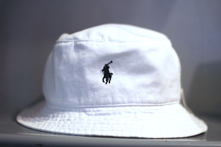 b12637fe4fbe4 Polo Ralph Lauren(ラルフ ローレン)Polo Pony Logo Bucket Hat White ...