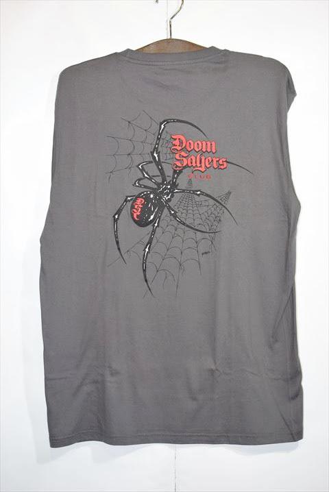 """画像1: Doom Sayers(ドゥームセイヤーズ) S/S """"Widow"""" Tee Chacoal Grey Short Sleeve T-Shirts チャコール グレイショートスリーブ 半袖 Tシャツ (1)"""