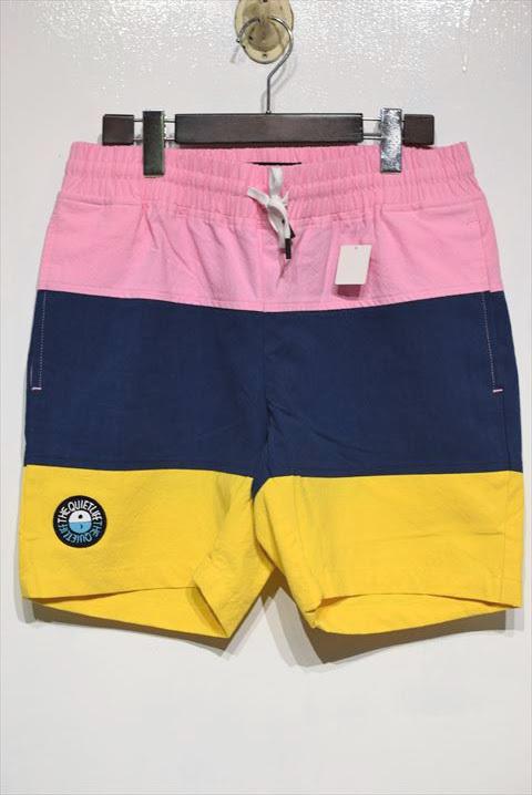 画像1: The Quiet Life(クワイエット ライフ) Solar Beach Shorts Pink Navy Yellow ショーツ (1)
