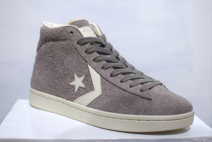 a83198c14dd2 Converse(コンバース) Cons Pro Leather 76 Mid Grey コンバース コンズ プロレザー グレー