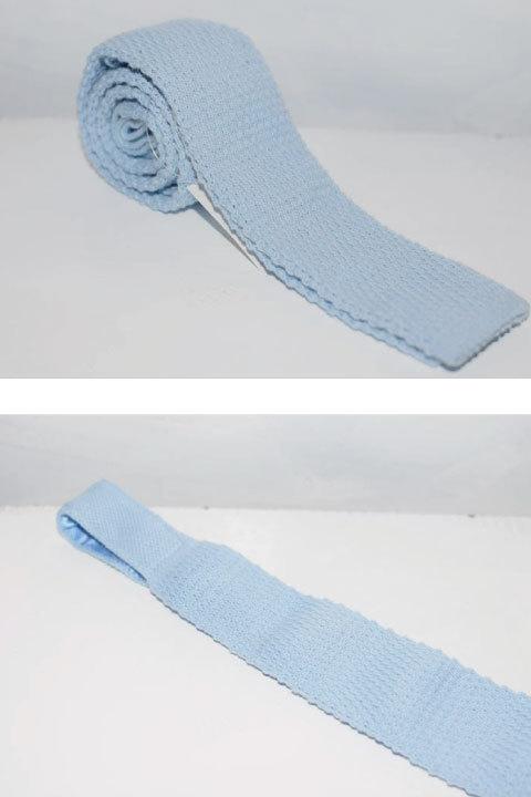 画像1: J.Crew(ジェイクルー) Knit Tie Solid ニット ネクタイ (1)