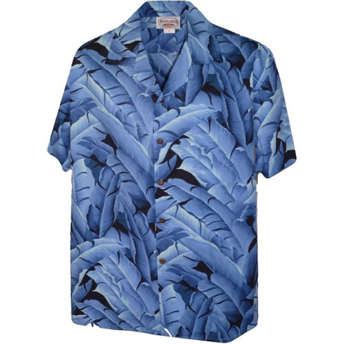 画像1: Pacific legend Aloha Shirts Allover Allover Blue アロハシャツ  (1)