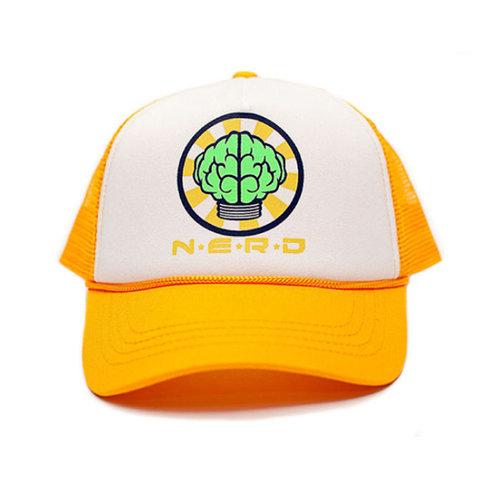 画像1: N.E.R.D(エヌイーアールディー) Mesh Cap Yellow メッシュ キャップ イエロー (1)