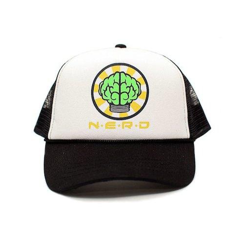 画像1: N.E.R.D(エヌイーアールディー) Mesh Cap Black メッシュ キャップ ブラック (1)