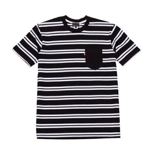 画像1: Acapulco Gold (アカプルコゴールド)AGNY Border Pocket S/S Tee Navy Red Black White Tシャツ ボーダー ポケット ポケT (1)