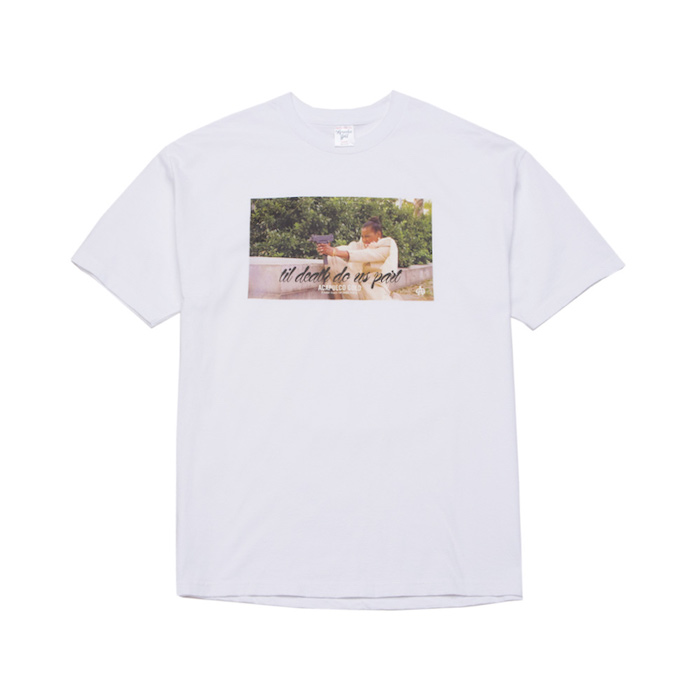 画像1: Acapulco Gold (アカプルコゴールド)Til Death Do Us Part S/S Tee White Tシャツ (1)