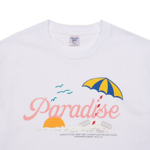 画像1: Acapulco Gold (アカプルコゴールド)Paradise S/S Tee White Tシャツ カリートの道 Carlito's Way Movie ESCAPE TO (1)