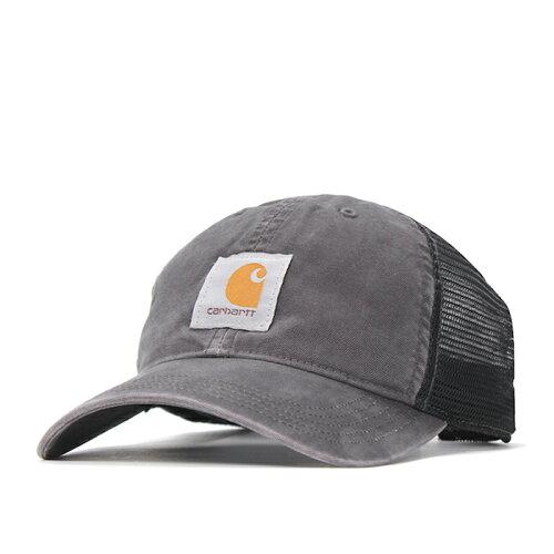 画像1: Carhartt (カーハート) Logo mesh Cap Wash Black ロゴ メッシュ キャップ (1)