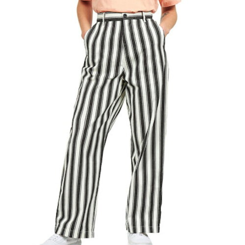 画像1: W` Cardony Stripe Pants Black White ブラック ホワイト ウィメンズ レディース Relaxed Straight (1)
