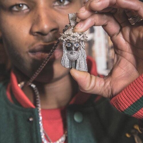 画像1: XL Jesus Chain Silver Necklace ネックレス シルバー ジーザス チェーン (1)