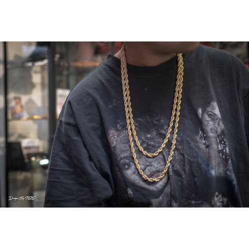 画像1: Golden Gilt(ゴールデン・ギルト) Rope Chain Gold Necklace ネックレス ゴールド 66cm 76cm jewelry ロープ チェーン (1)