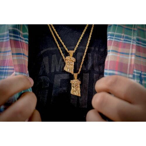 画像1: Golden Gilt(ゴールデン・ギルト) Mini Jesus Rope Chain Gold Necklace ネックレス ゴールド 50cm 60cm 24inch jewelry ジーザス ロープ チェーン (1)