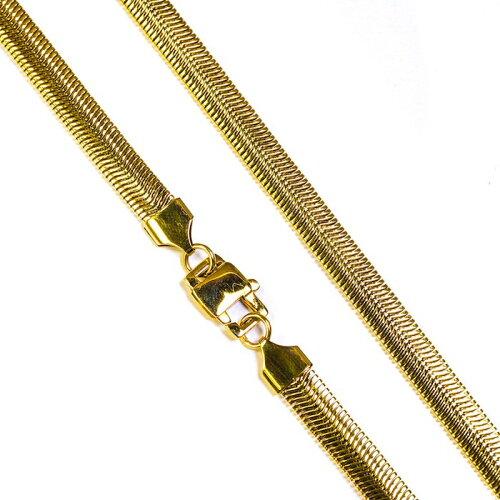 画像1: Golden Gilt(ゴールデン・ギルト) Herringbone Snake Gold Necklace ネックレス ゴールド 66cm jewelry ヘリンボーン スネーク チェーン  (1)