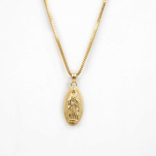 画像1: Golden Gilt(ゴールデン・ギルト) Virgin Mary Pendant Chain Gold Necklace 50cm 60cm ネックレス ゴールド (1)