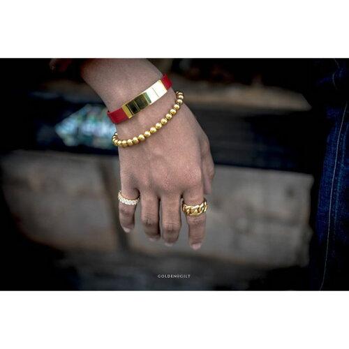 画像1: Golden Gilt(ゴールデン・ギルト) Beaded Bracelet Chain Gold ブレスレット ゴールド 18cm (1)