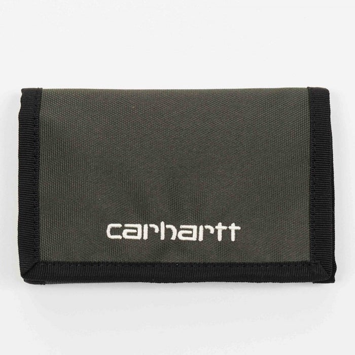 画像1: Carhartt WIP(カーハート ワークインプログレス) Payton Wallet Cypress Black Navy Olive Green Duck コーデュラナイロン コンパクト Nylon 財布 ベロクロ (1)