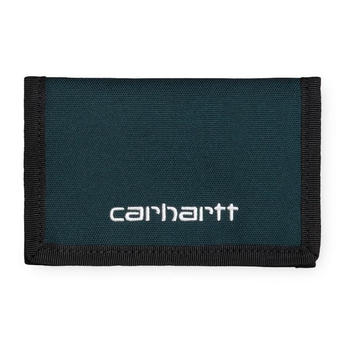 画像1: Carhartt WIP(カーハート ワークインプログレス) Payton Wallet Cypress Navy Black Olive Green Duck コーデュラナイロン コンパクト Nylon 財布 ベロクロ (1)