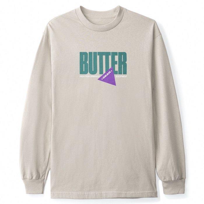 画像1: Butter Goods(バターグッズ) Gear L/S Tee Sand Beige Navy 長袖 Tシャツ  (1)