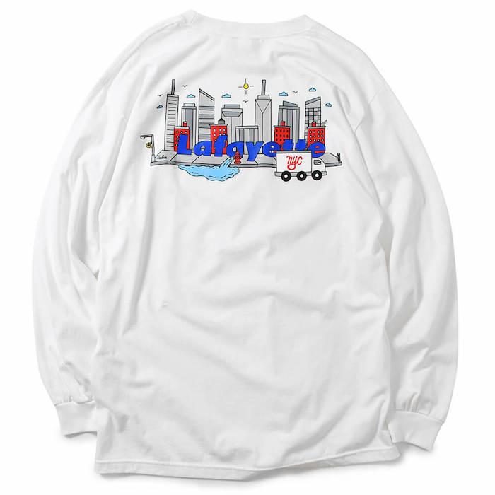 画像1: Lafayette(ラファイエット) × Cleofus City Logo L/S Tee 長袖 Tシャツ  (1)