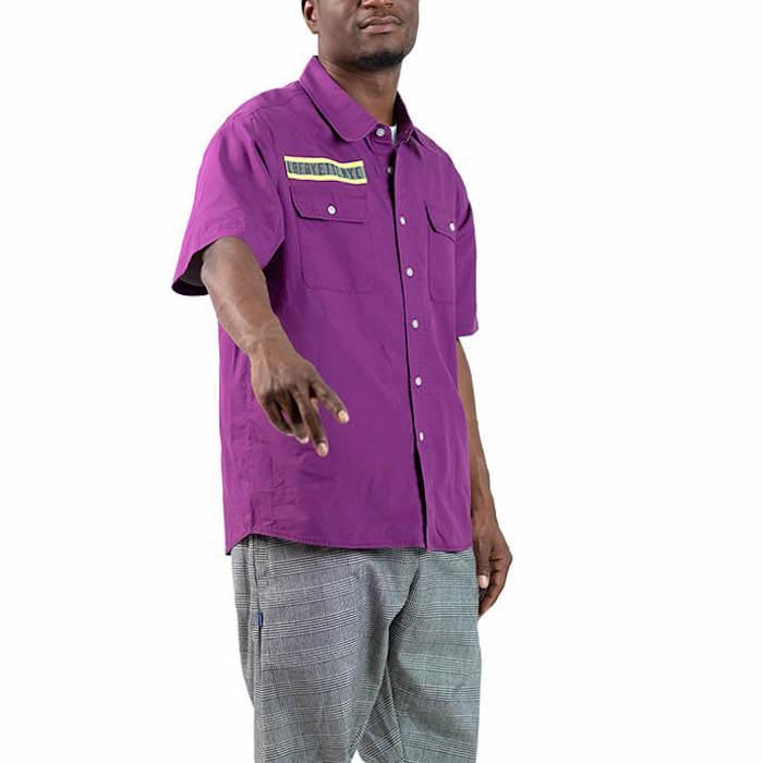 画像1: High Vis Box Logo S/S Work Shirt 半袖 シャツ Purple パープル (1)