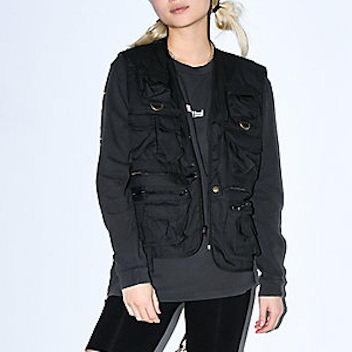 画像1: Uncle Milty Fishing Vest Black ミリティー フィッシング ベスト ブラック 黒 Outdoor Military メンズ ユニセックス  (1)