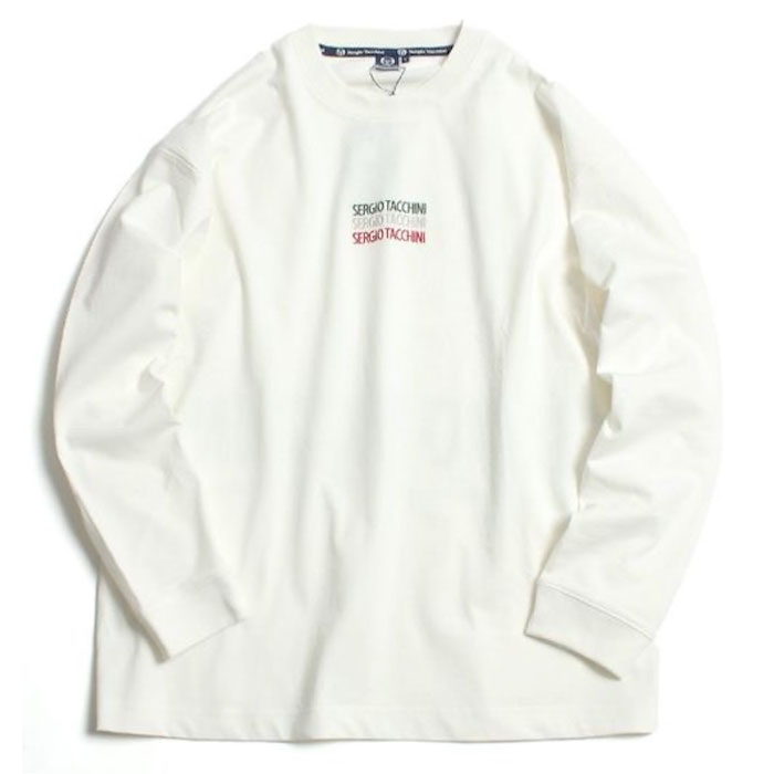 画像1: Italiano L/S embroidery Logo Tee ロンT 長袖 Tシャツ  (1)