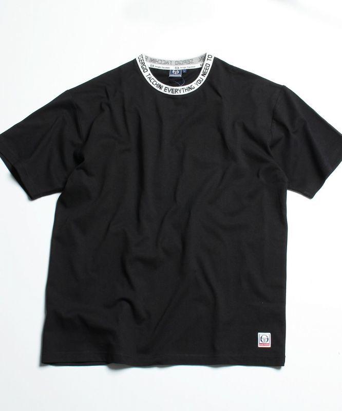 画像1: Logo jaguard Rib S/S Tee Trim トリム ビッグシルエット ロゴ 半袖 Tシャツ (1)