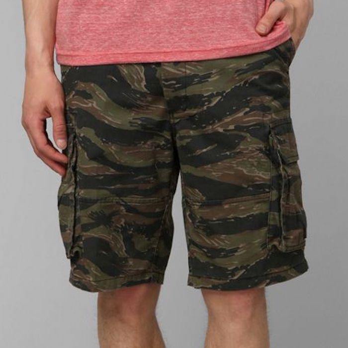 画像1: Military Cargo Shorts ミリタリー カーゴ ショーツ Tiger Camo (1)