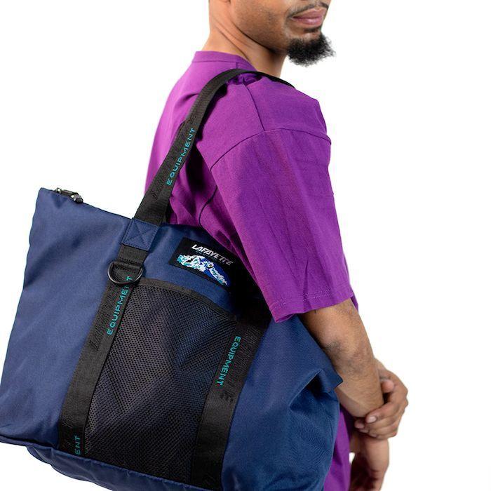 画像1: 【SALE】Equipment Logo Nylon Tote Bag トートバック Navy ネイビー (1)