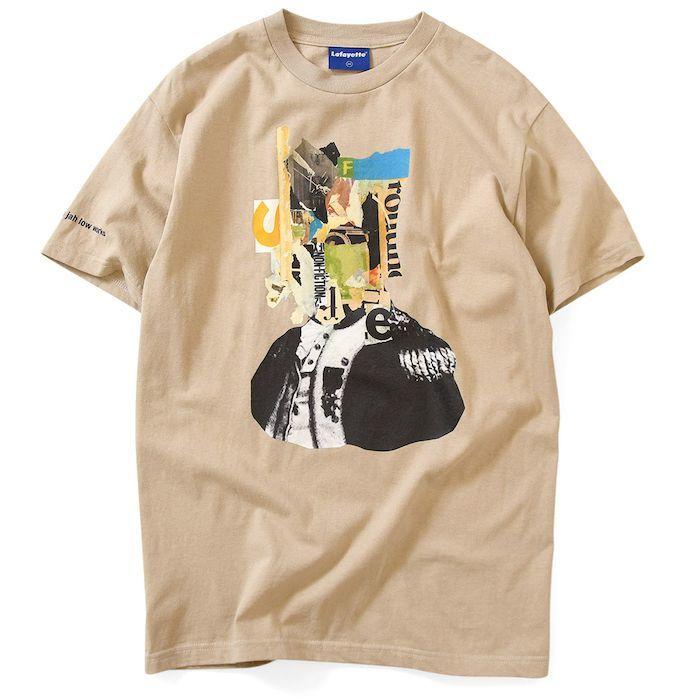 画像1: Lafayette(ラファイエット) × Killiman Jah Low Works キリマンジャロウワークス Behind Themask Tee 半袖 Tシャツ Sand Beige サンド ベージュ (1)