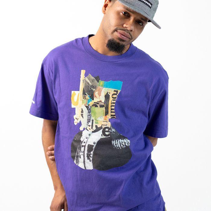 画像1: Lafayette(ラファイエット) × Killiman Jah Low Works キリマンジャロウワークス Behind Themask Tee 半袖 Tシャツ Purple パープル (1)