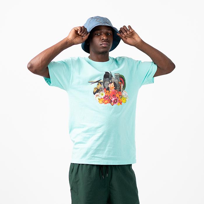 画像1: Lafayette(ラファイエット) × Killiman Jah Low Works キリマンジャロウワークス Keeping It Moving Tee 半袖 Tシャツ Mint ミント (1)