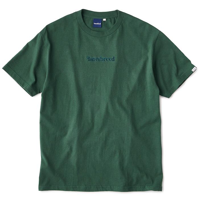 画像1: Interbreed(インターブリード) S/S Archive Logo Tee Deep Green T-Shirt ベロア ロゴ ディープ グリーン Tシャツ (1)